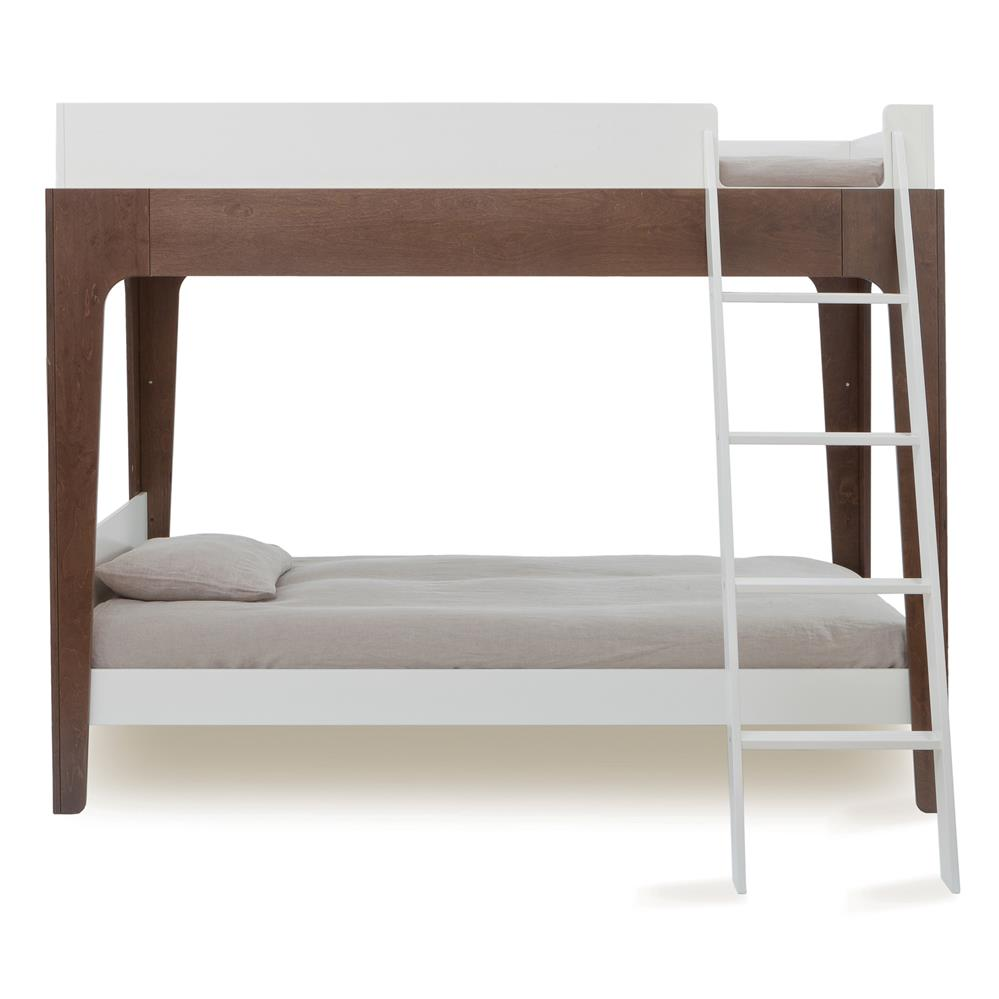 Perch Modern Classic Oeuf Walnut Twin Bunk Bed Kathy Kuo