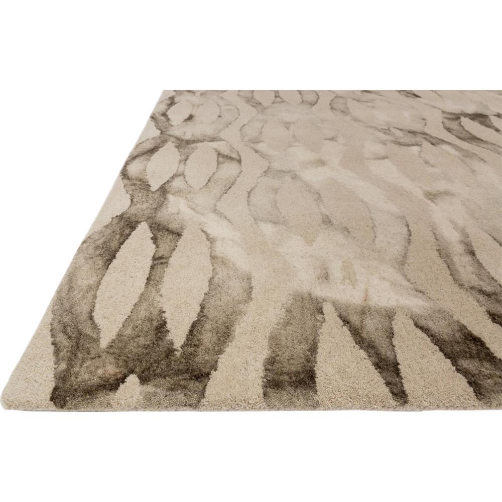 mocha modern twisted fade wool rug