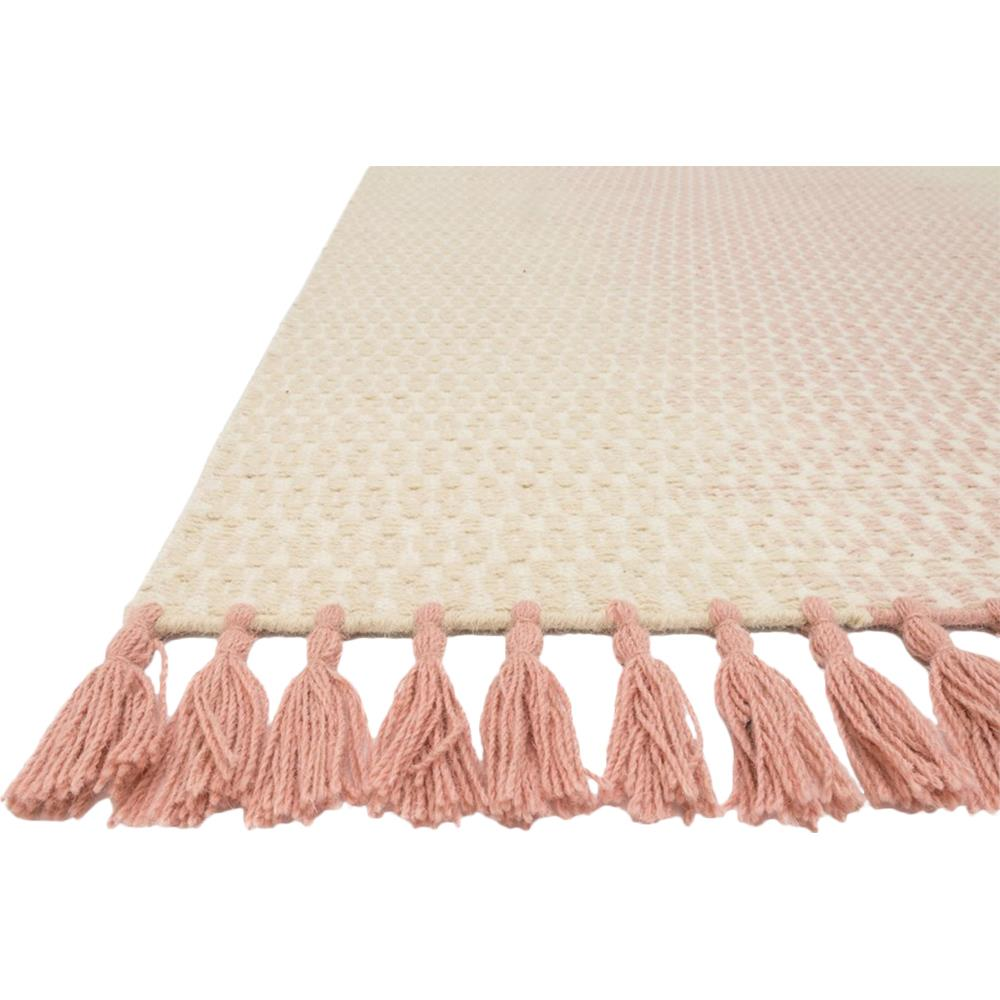 Tilly Global Rose Pink Ombre Woven Wool Rug