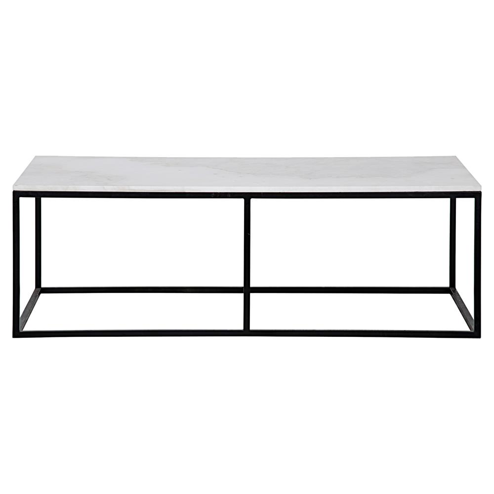 Coen industrial black metal outline white stone coffee table coen industrial black metal outline white stone coffee table kathy kuo home view full size geotapseo Images