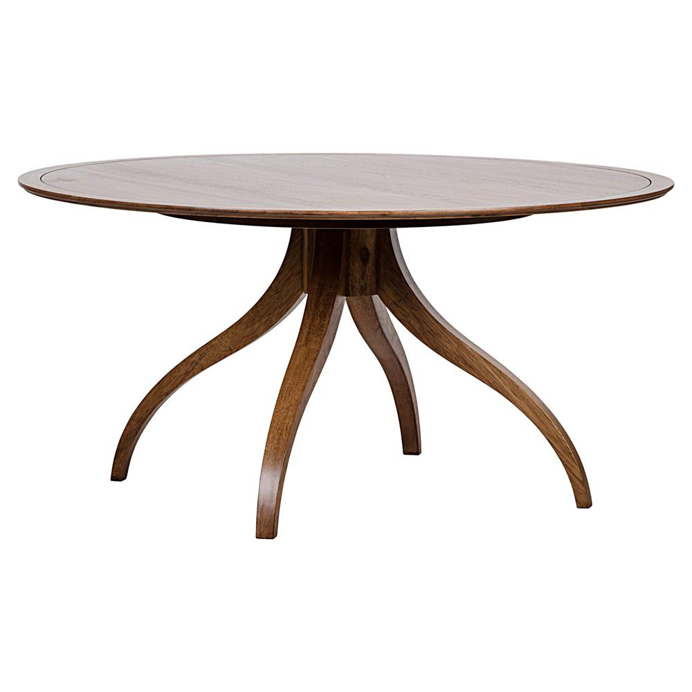 Walnut Round Dining Table Kathy Kuo Home View Full Size