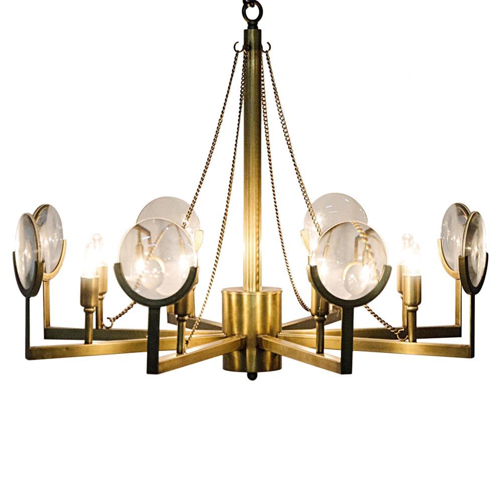 Abigale Modern Antique Brass Chandelier Frame Mirrored