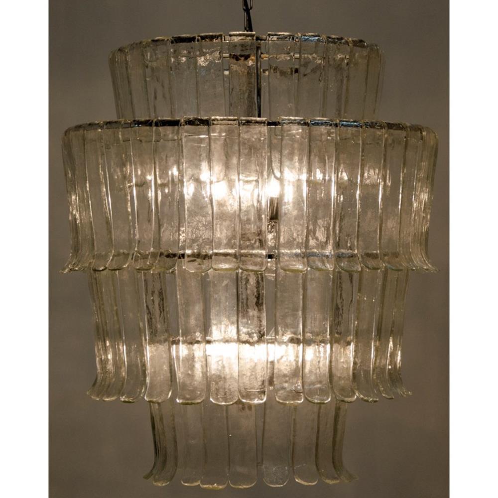 Assana coastal chrome 4 tier textured glass panel for Textured glass panels
