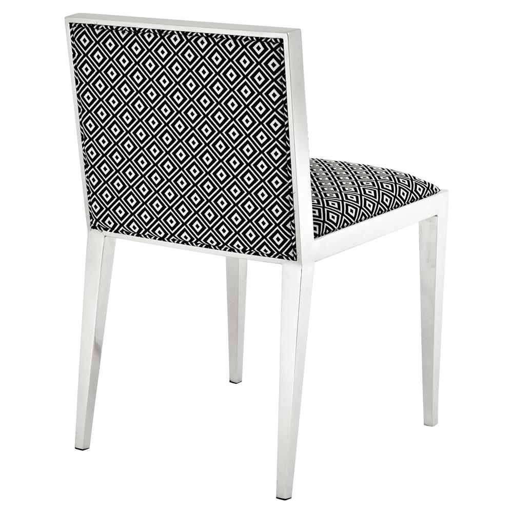Eichholtz Angie Modern Silver Black And White Upholstered