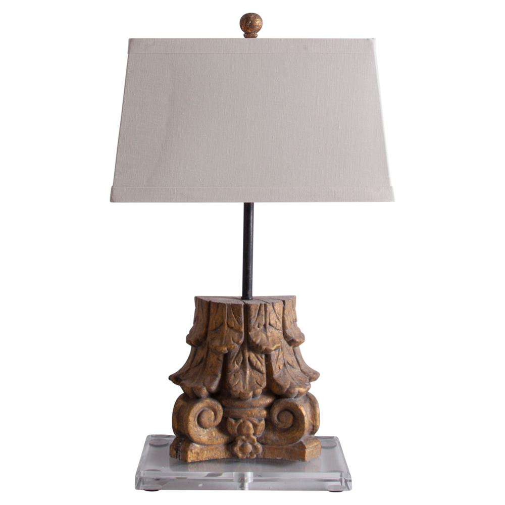 lilian french country acrylic antique gold carved table lamp kathy. Black Bedroom Furniture Sets. Home Design Ideas