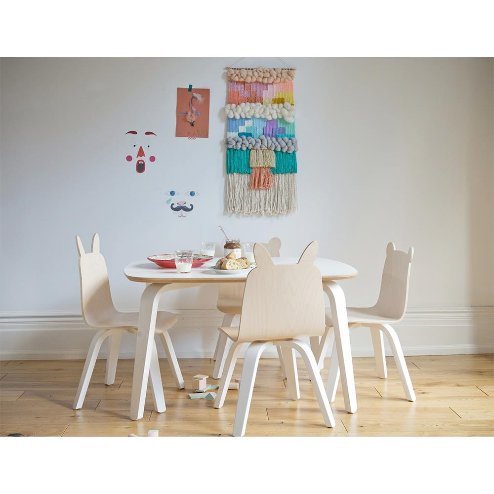 rabbit play chairs by oeuf birch set of 2 kathy kuo home. Black Bedroom Furniture Sets. Home Design Ideas
