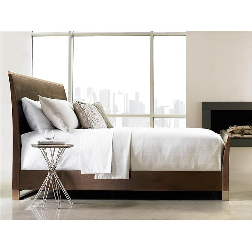 furniture beds patrick rustic wood modern brass sleigh bed queen