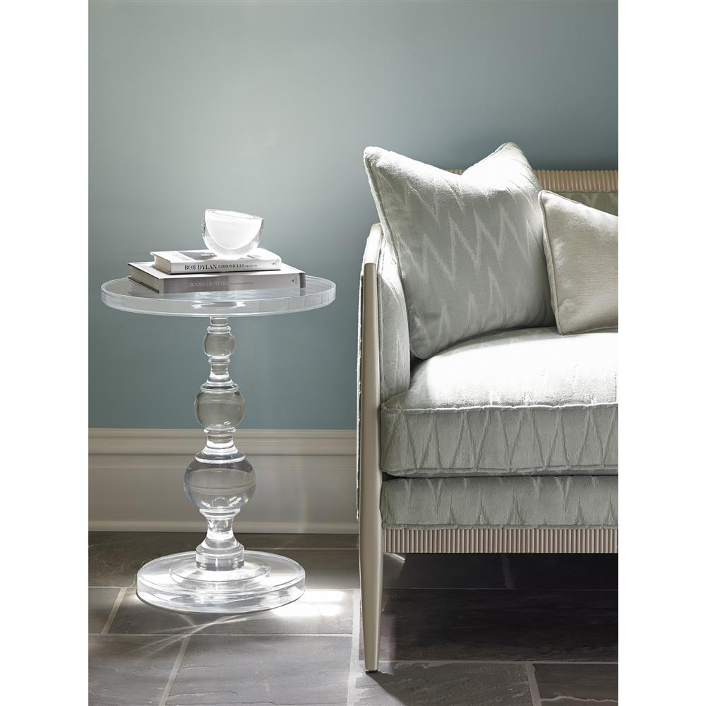 Ardessia Modern Clear Acrylic Traditional Side Table Kathy Kuo Home