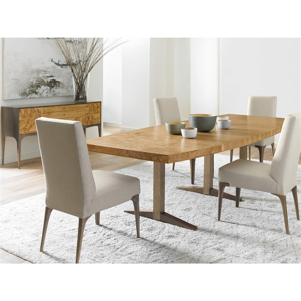 fiero modern olive ash burl longwood dining table 120w kathy kuo home. Black Bedroom Furniture Sets. Home Design Ideas