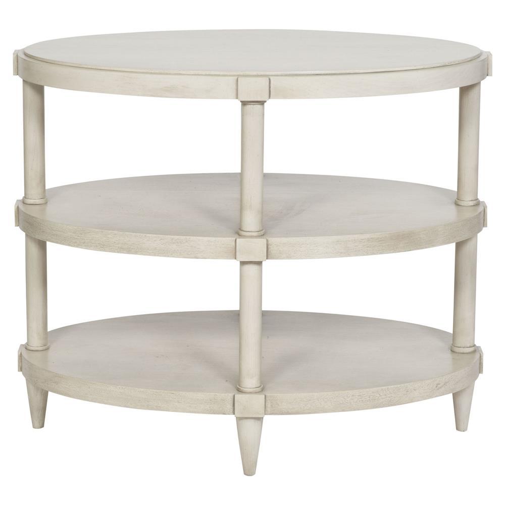 Manan Coastal Rustic Wood Oval End Table