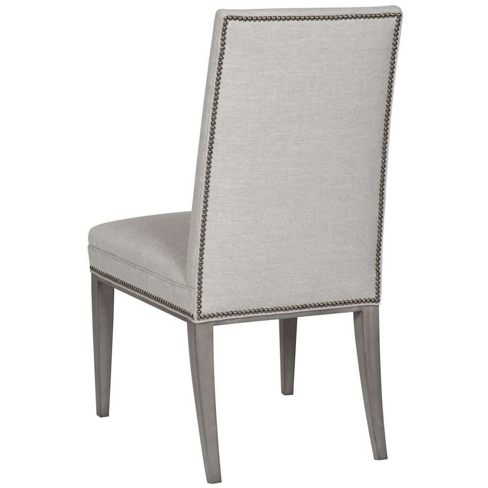 ... Vanguard Hanover Classic Dove Grey Button Tuft Nailhead Side Chair |  Kathy Kuo Home ...