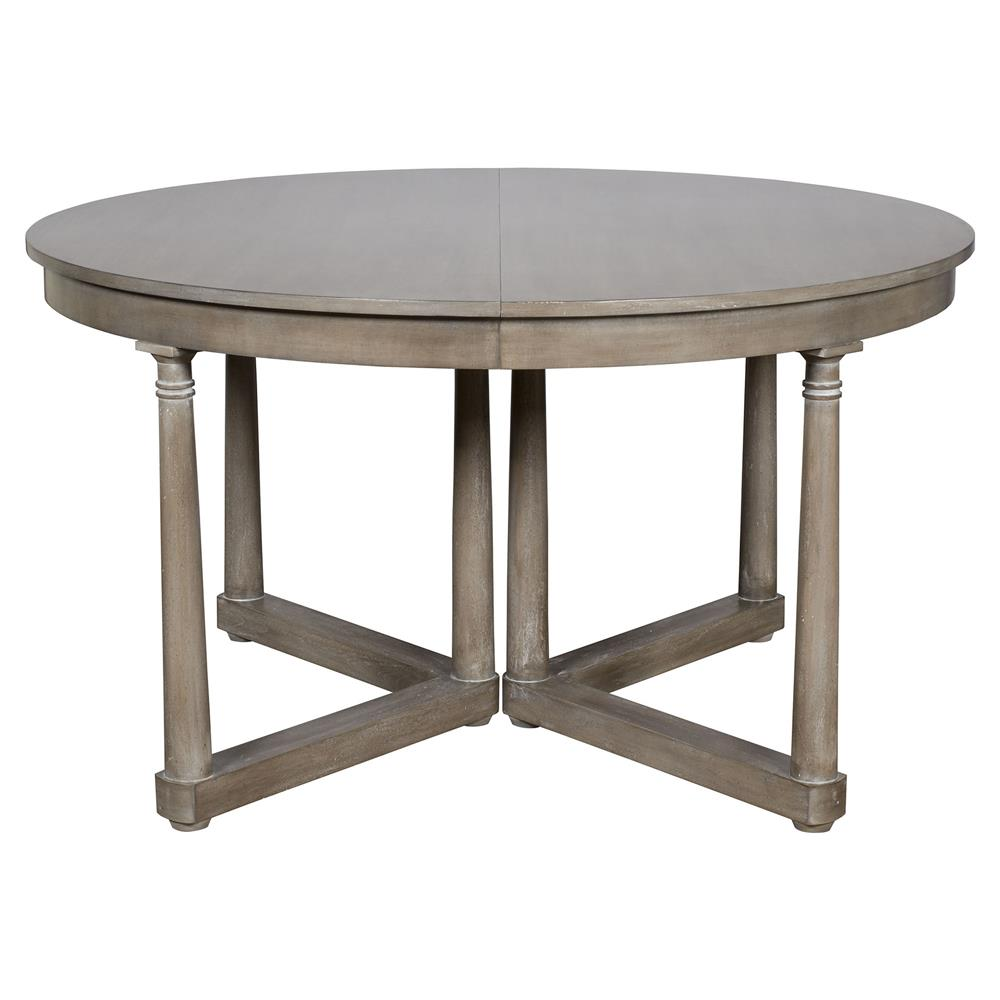 Declan Rustic Grey Brown Extendable Round Dining Table  : product205101 from www.kathykuohome.com size 1000 x 1000 jpeg 53kB