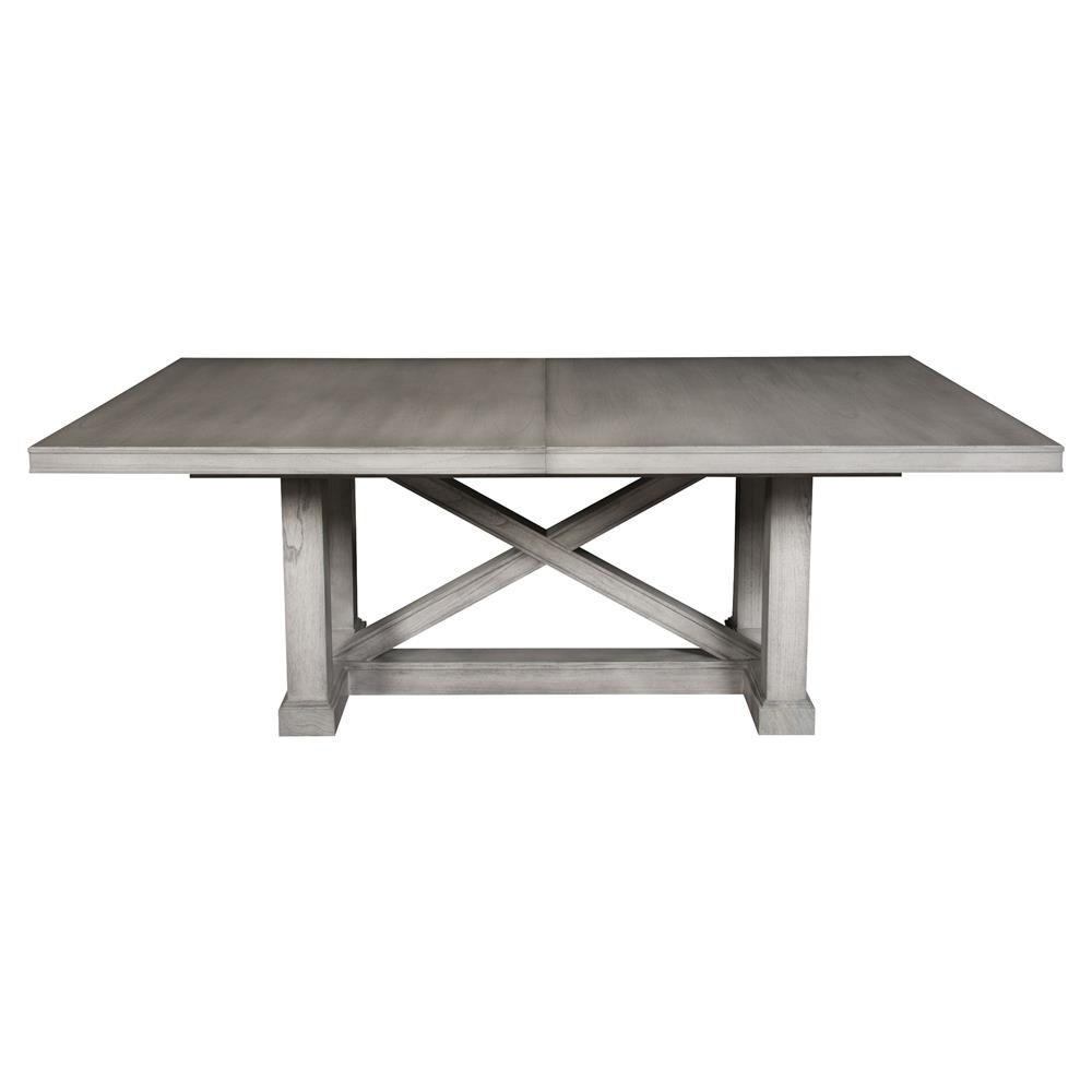 jimmy rustic grey cedar wood adjustable dining table kathy kuo home. Black Bedroom Furniture Sets. Home Design Ideas