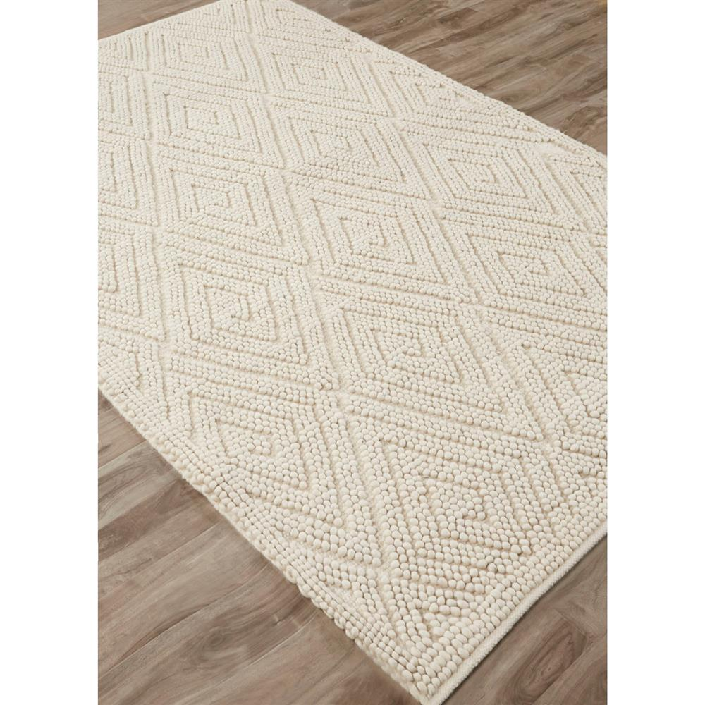 Cosy Textured Wool Rug: Pom Scandia New Zealand Wool Textured Ivory Rug -5x8