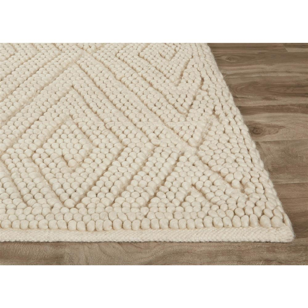 Pom Scandia New Zealand Wool Textured Ivory Rug 5x8 Kathy Kuo Home