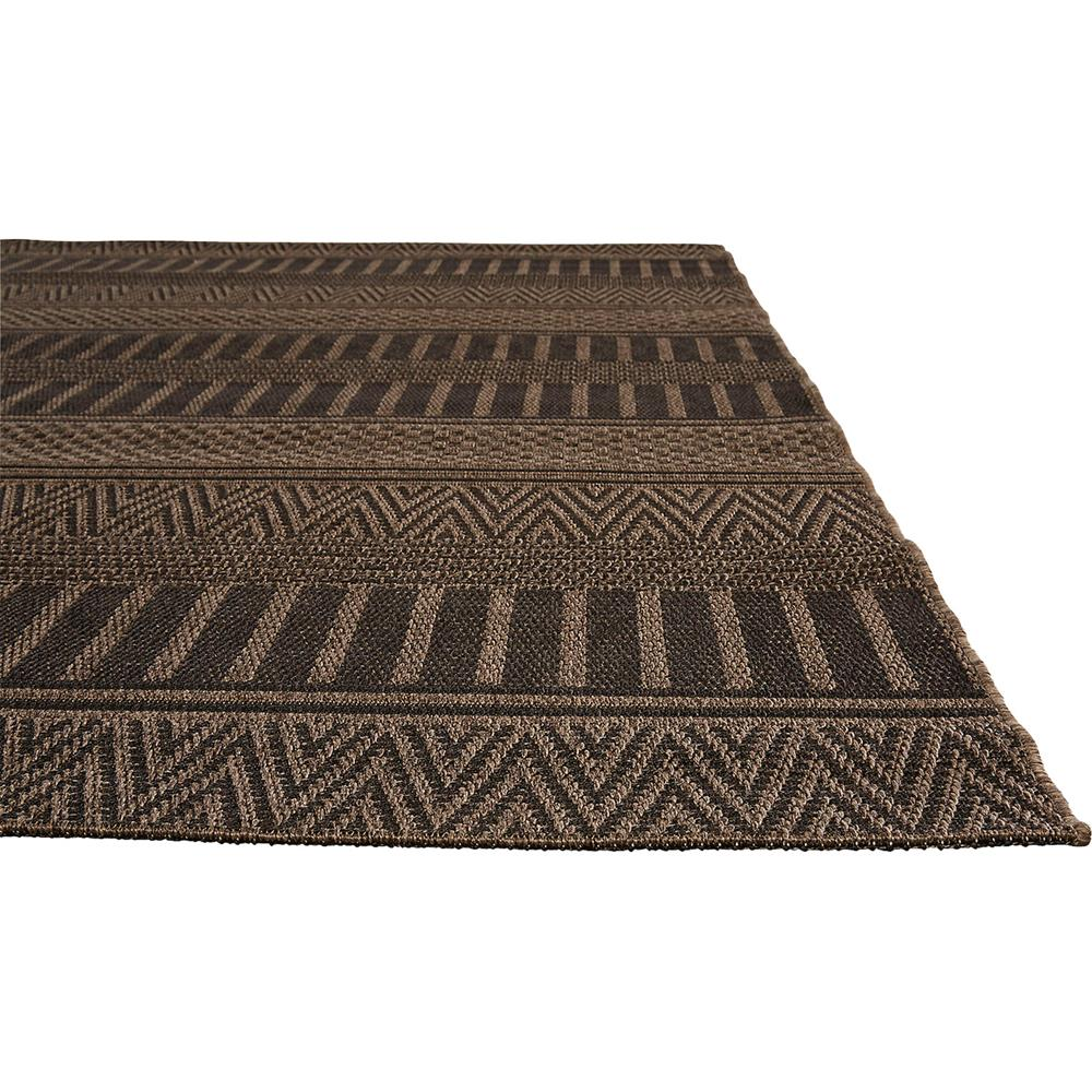 Catrine tribal black woven metallic outdoor rug 2x3 for Woven vinyl outdoor rugs