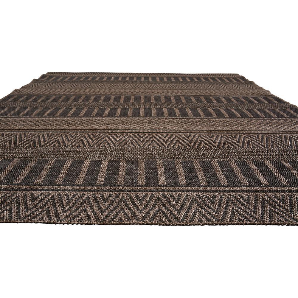 Catrine tribal black woven metallic outdoor rug 2x3 for Garden room 2x3