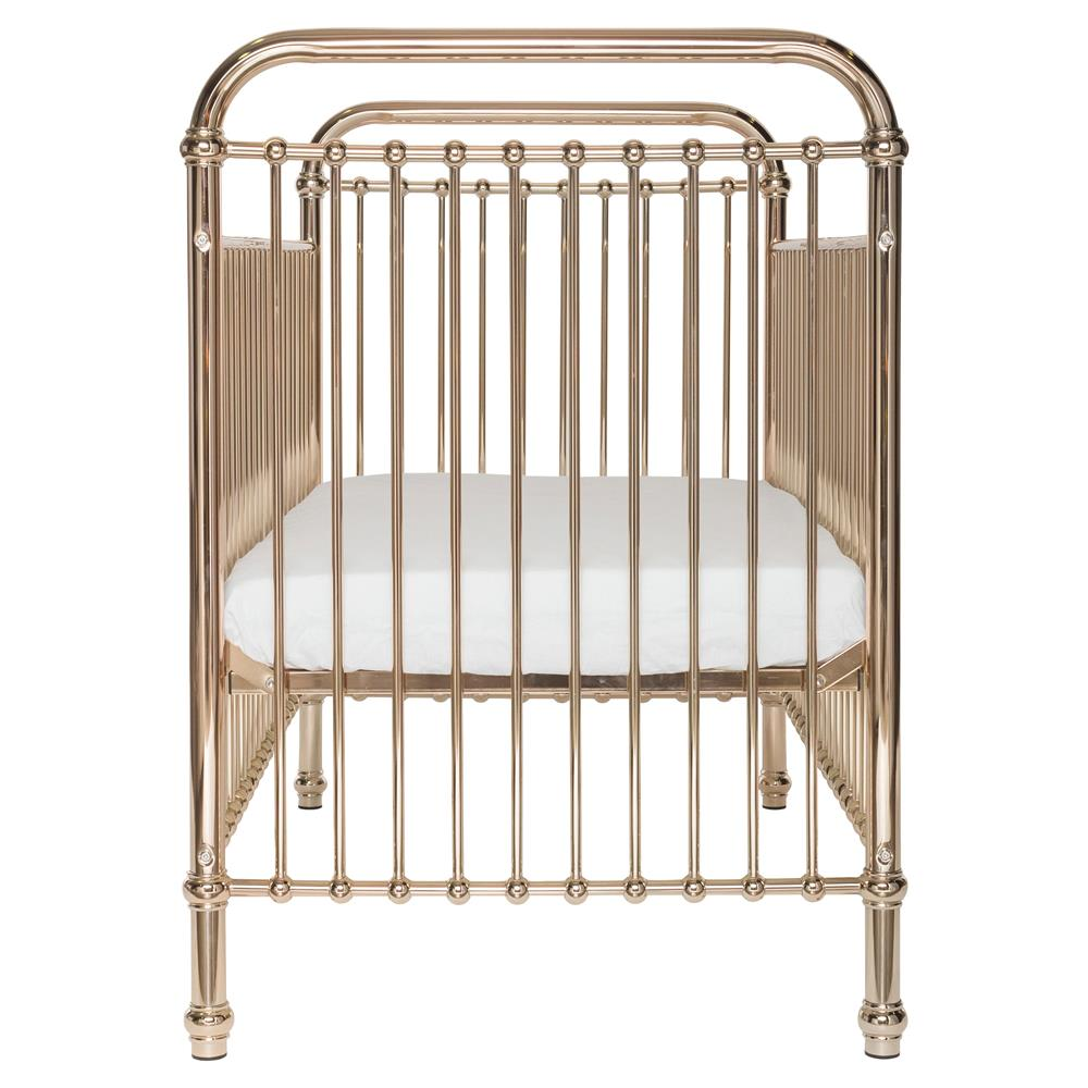 Penny Modern Classic Rose Gold Metal Crib Kathy Kuo Home