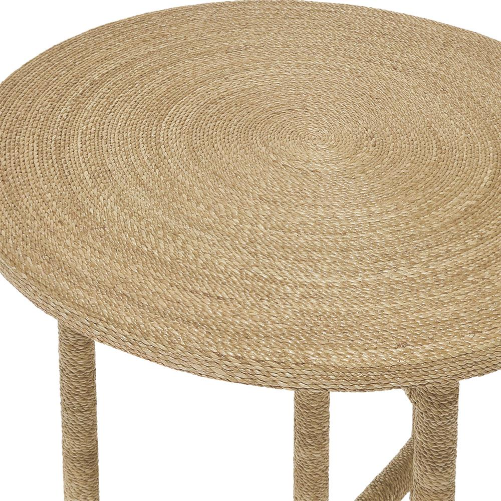 Palecek Monarch Coastal Wrapped Rope Seagrass Round End Table