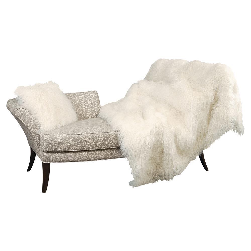 Devi Bazaar Tibetan Wool Textured Ivory Throw Blanket Kathy Kuo Home
