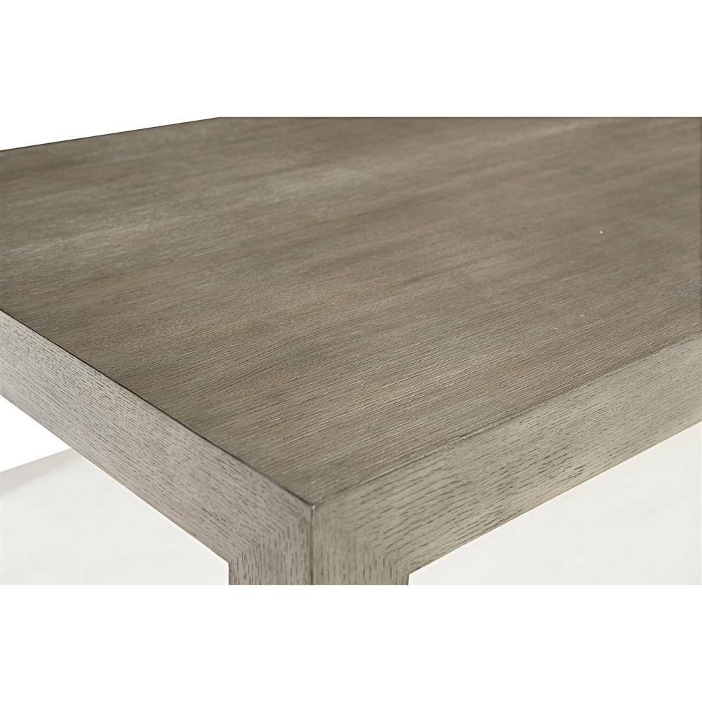 Marqua Coastal Rustic Grey Wood White Interior Coffee Table | Kathy Kuo  Home. view full size ... - Marqua Coastal Rustic Grey Wood White Interior Coffee Table