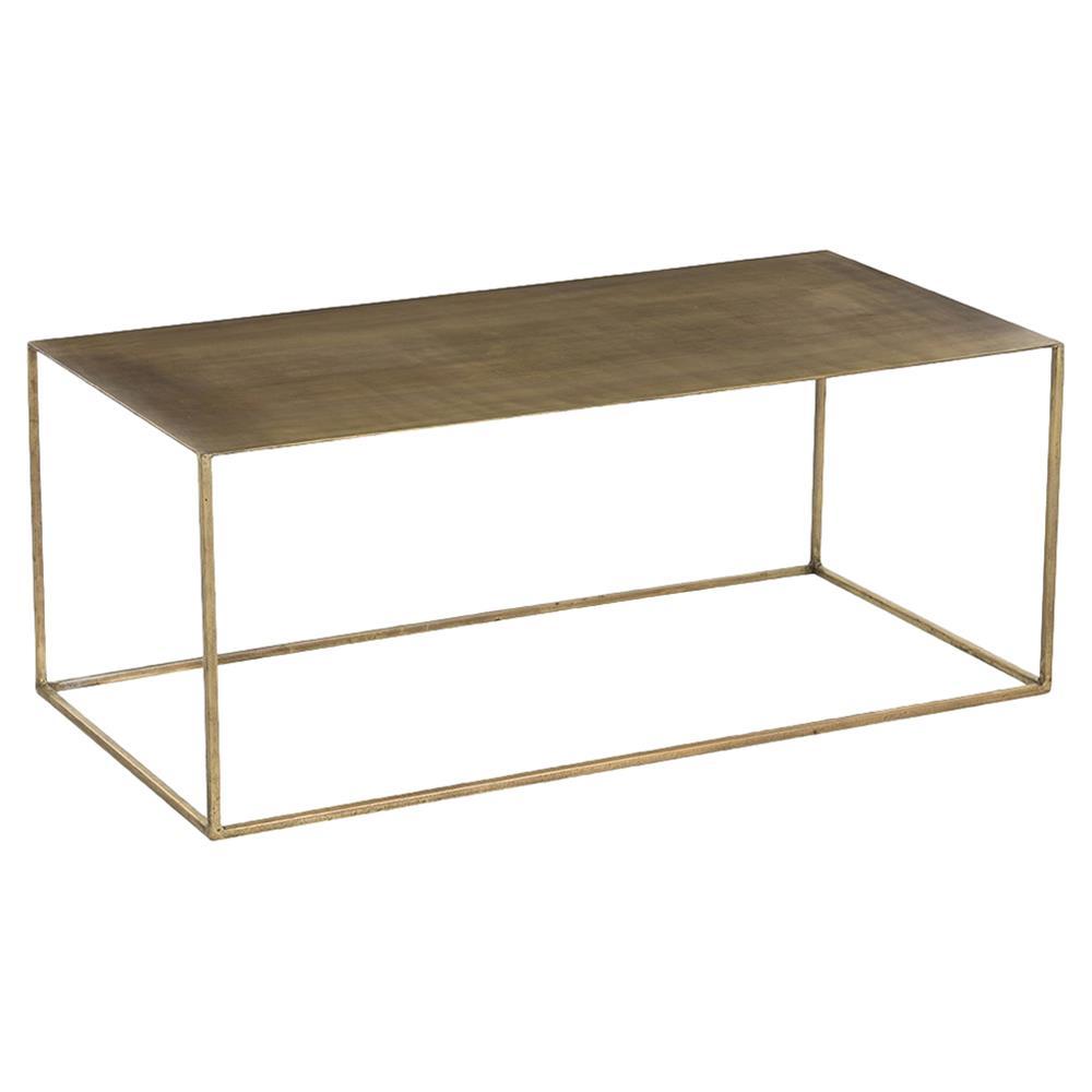 Tobin Industrial Loft Minimal Antique Brass Coffee Table