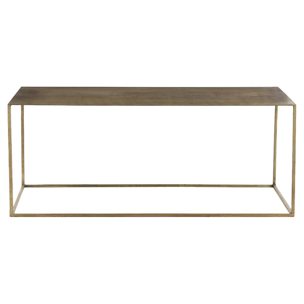 Tobin Industrial Loft Minimal Antique Brass Coffee Table