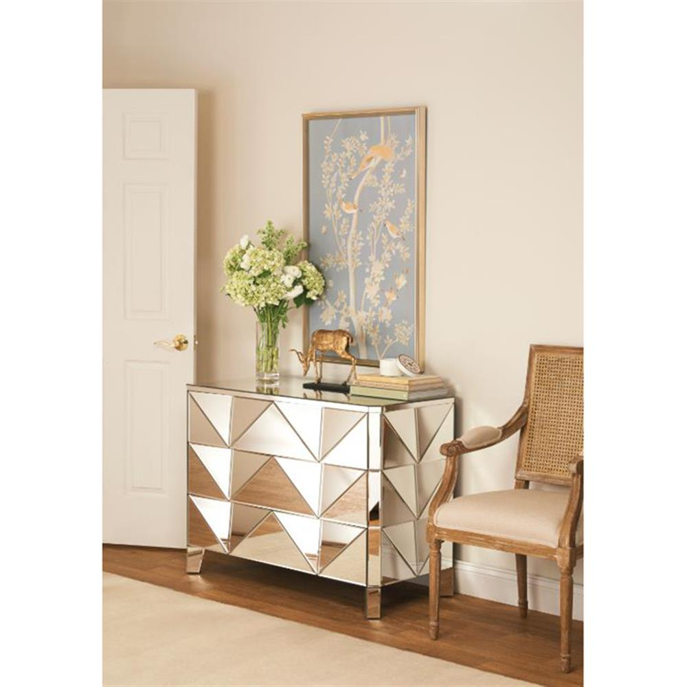 Modern dresser with mirror and chair - View Full Size
