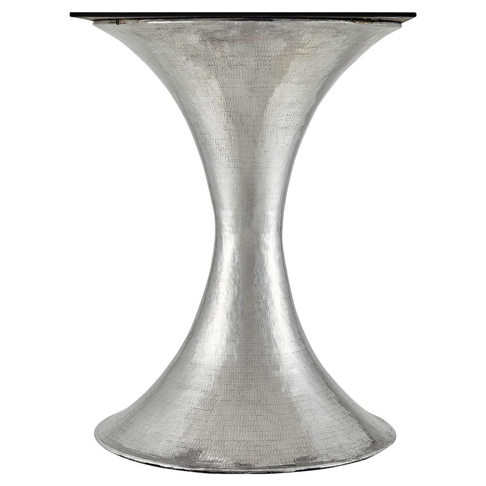 6af07b00e0e6 ... Quinton Silver Tulip White Marble Round Dining Table - 51.5