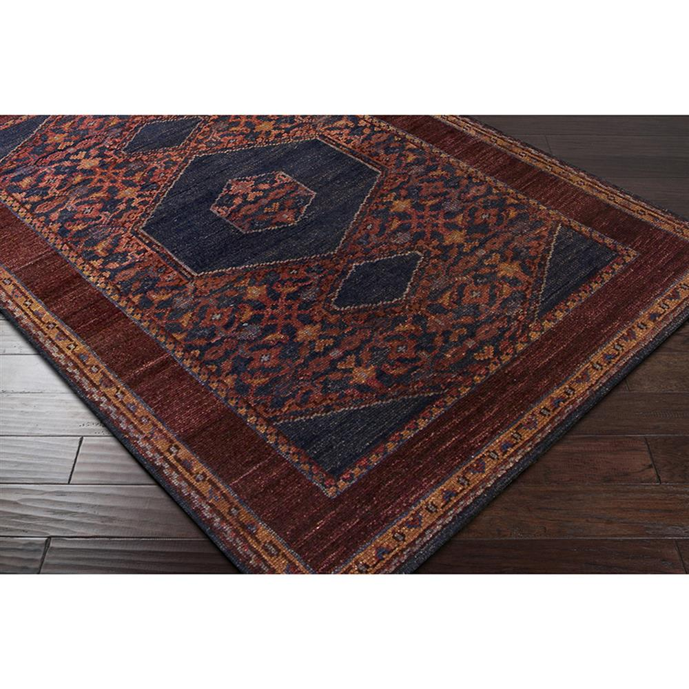 Priya Bazaar Antique Wash Burgundy Wool Rug - 5'6x8'6 ...