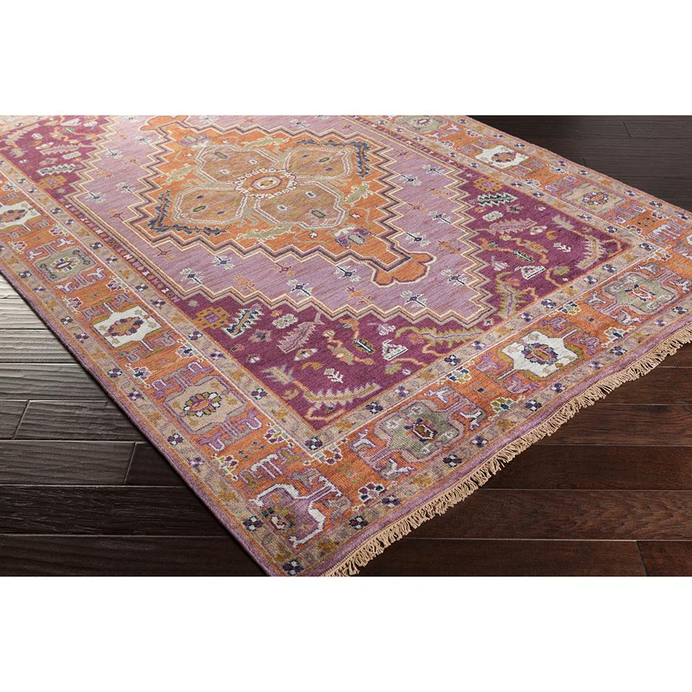 Kaori Bazaar Vibrant Purple Wash Traditional Wool Rug