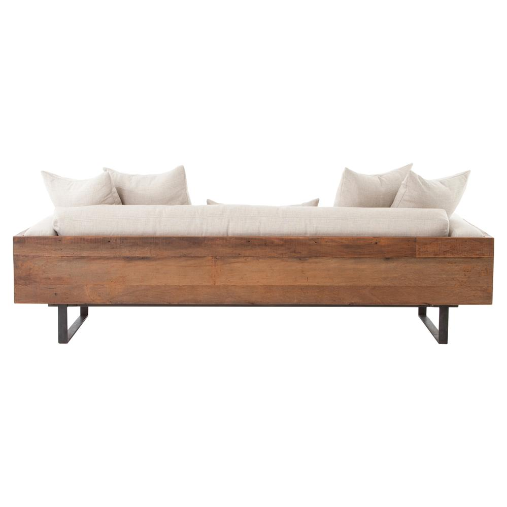 Lloyd rustic loft natural linen exposed wood sofa kathy