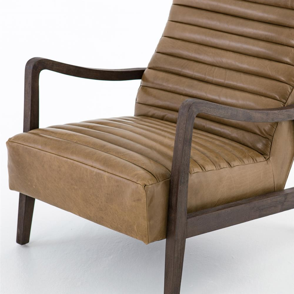 Brown Armchair Elkan Modern Classic Camel Leather Brown Armchair Kathy Kuo Home
