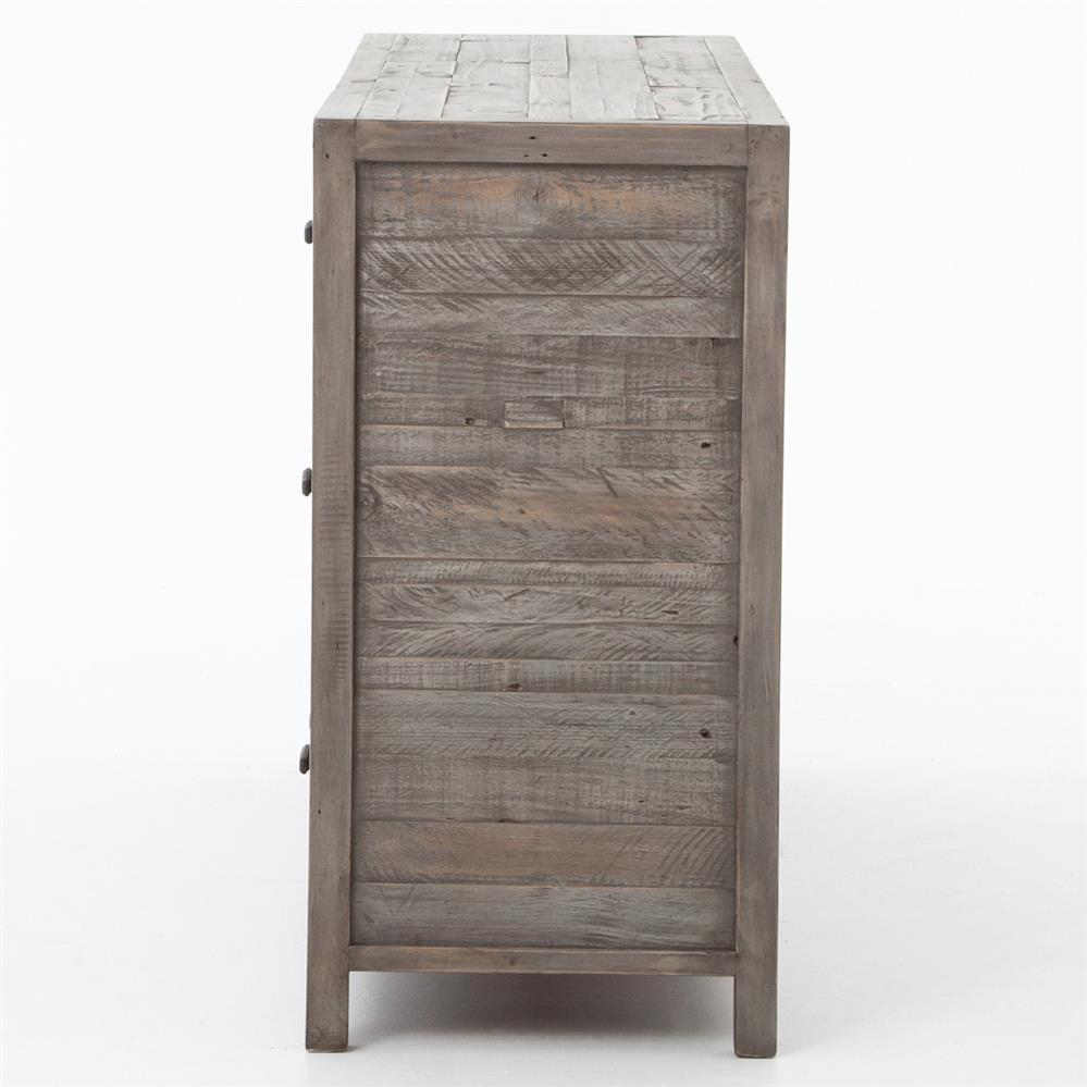 rustic grey dresser