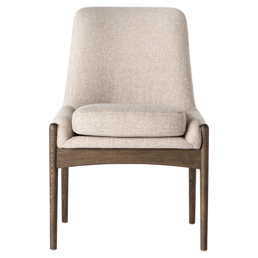 olena mid century beige cedar side chair kathy kuo home. Black Bedroom Furniture Sets. Home Design Ideas