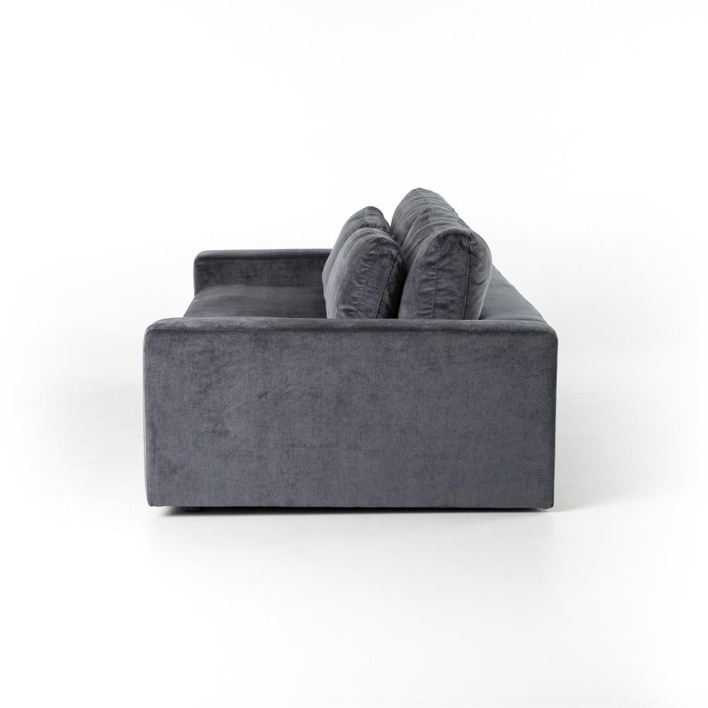 Theodora Regency Charcoal Grey Velvet Sofa