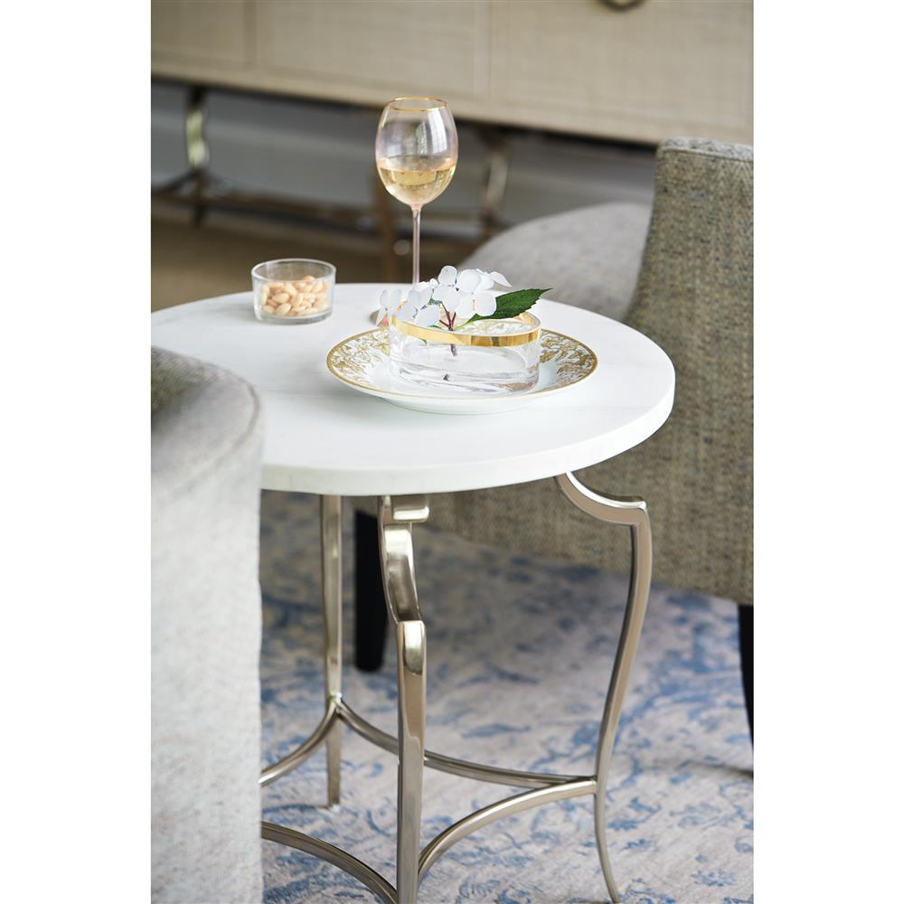 ... Silver Round End Table | Kathy Kuo Home. View Full Size ...