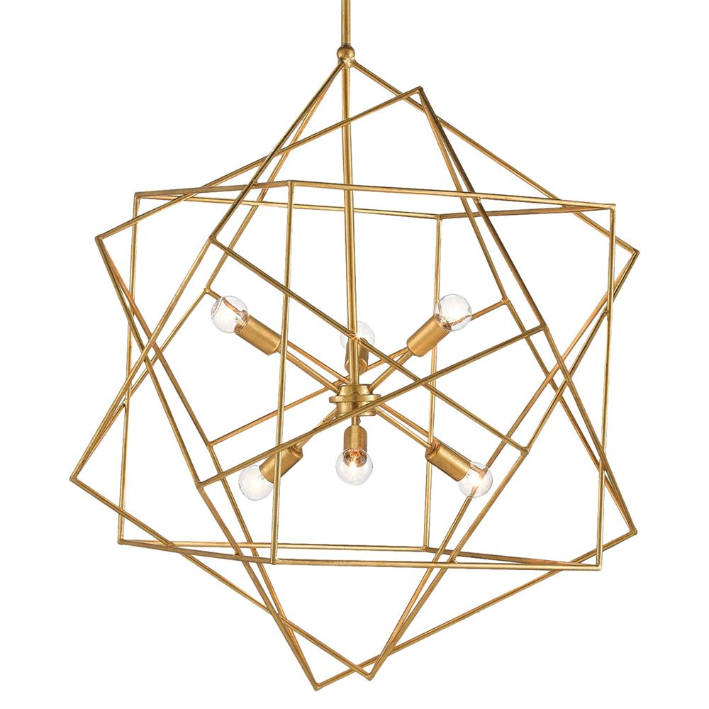 Dade Geometric Modern Gold Cubes Chandelier Kathy Kuo Home