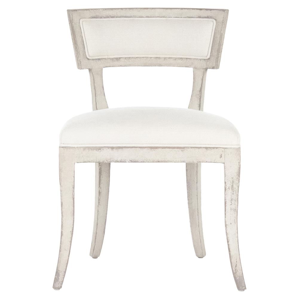 Ivette French Country Antique White Wood Side Chair
