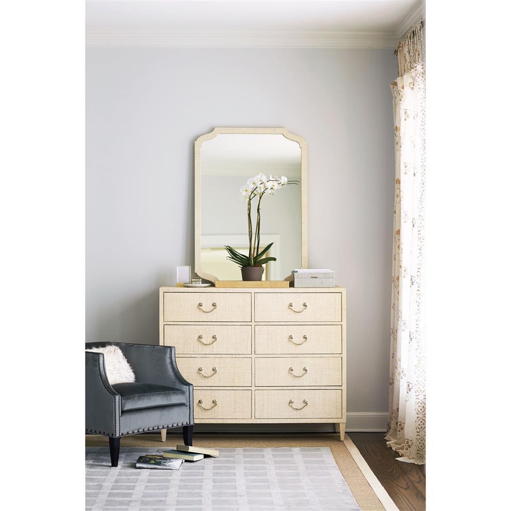 Silver Dresser: Diana Ivory Raffia Polished Silver Dresser