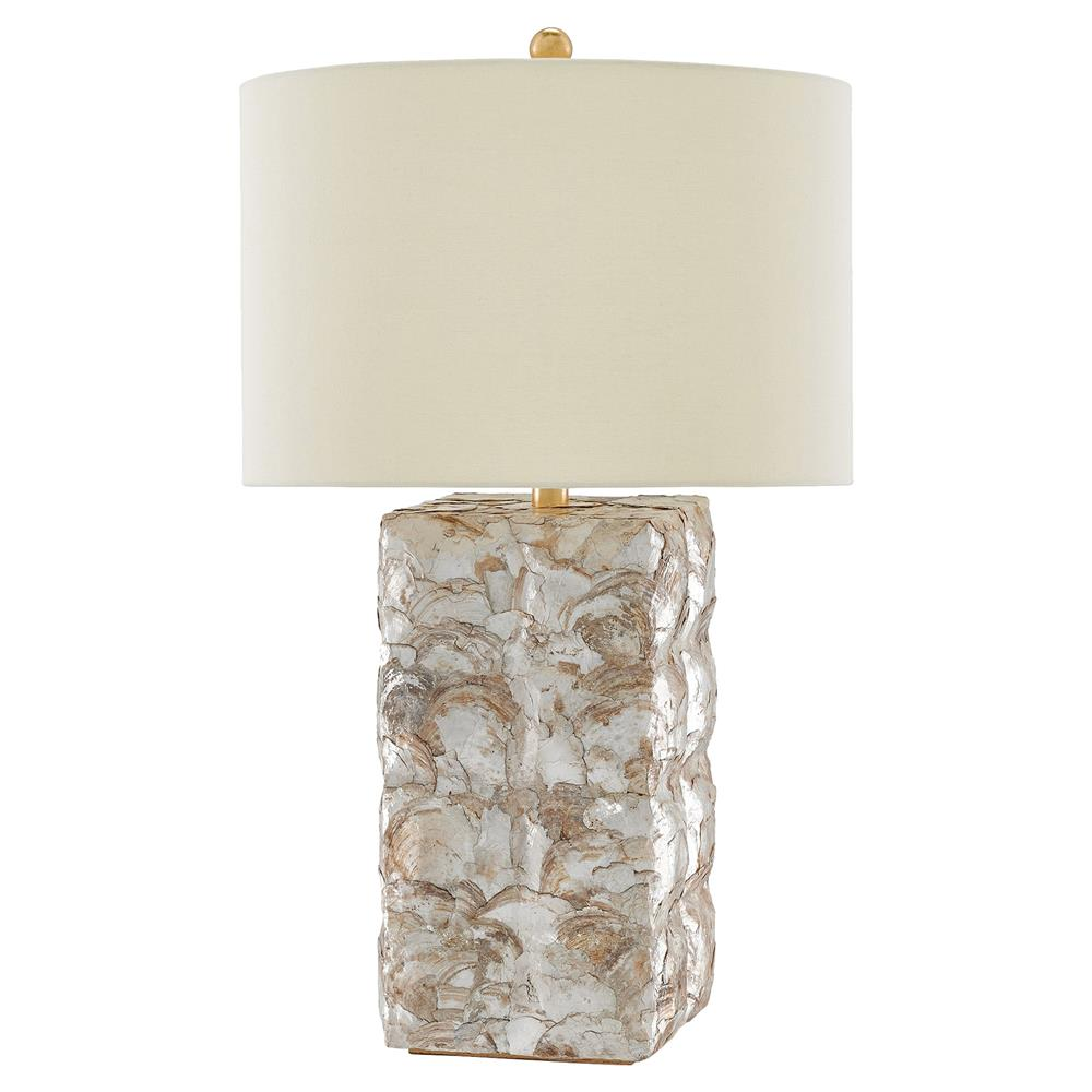 Edson Coastal Beach Capiz Shell Table Lamp | Kathy Kuo Home