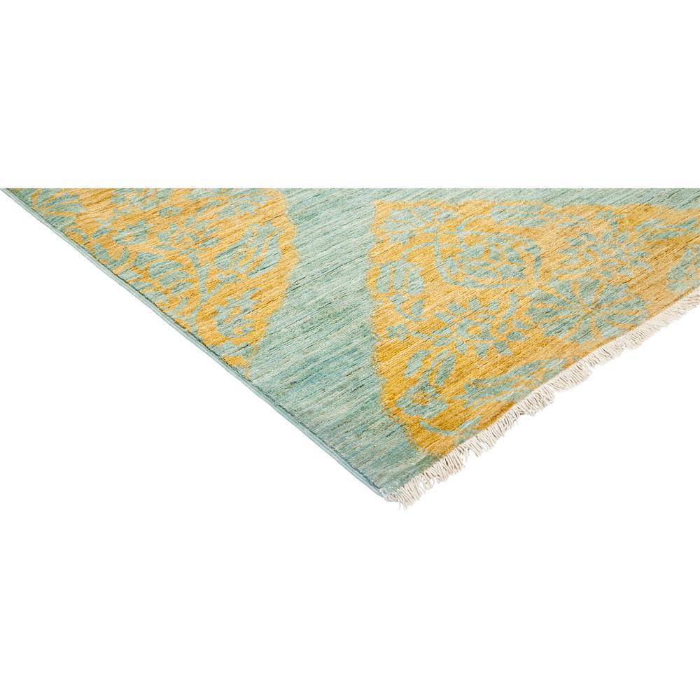 Munro Bazaar Gold Medallion Teal Wool Rug