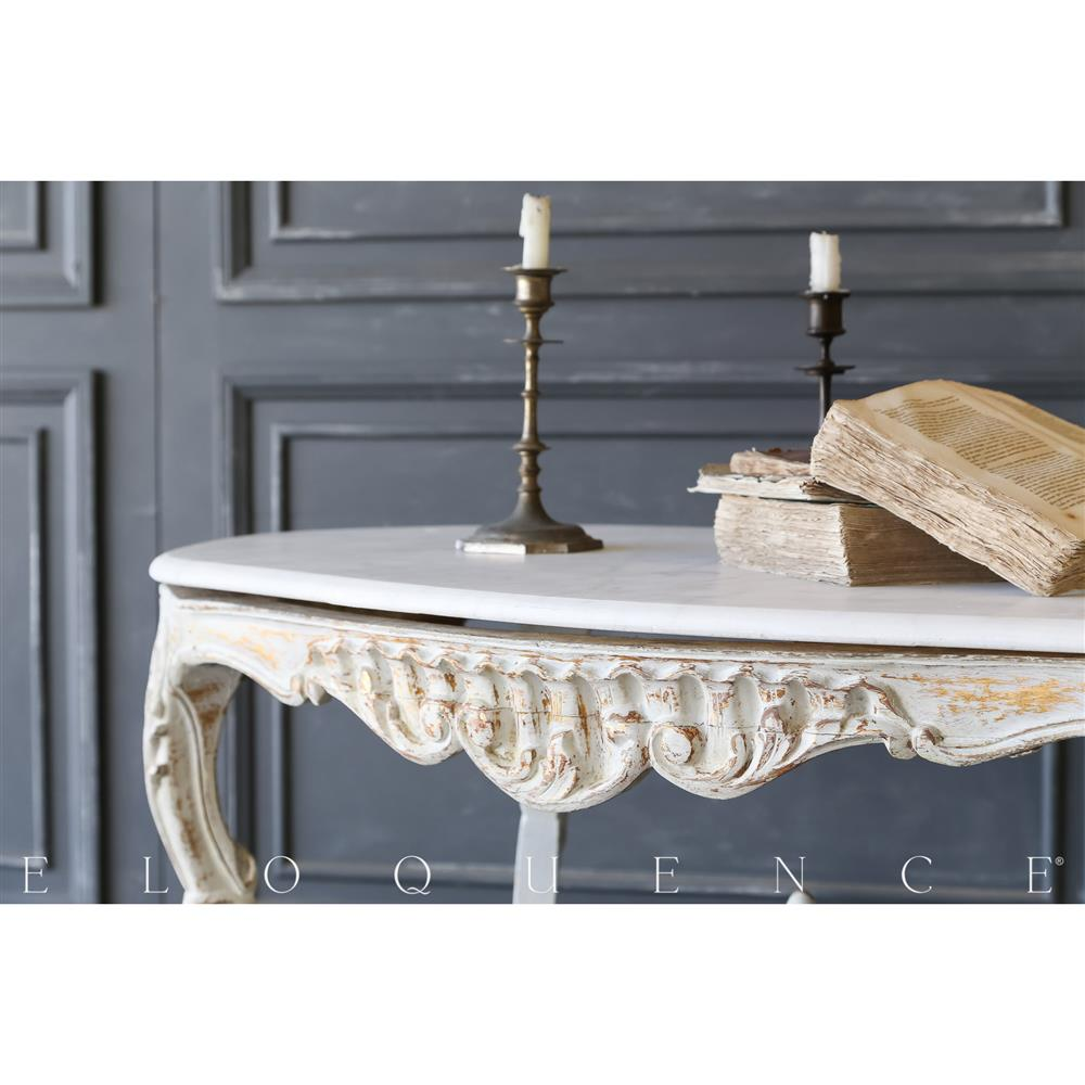Eloquence® Vintage Distressed Gilt Coffee Table: 1940