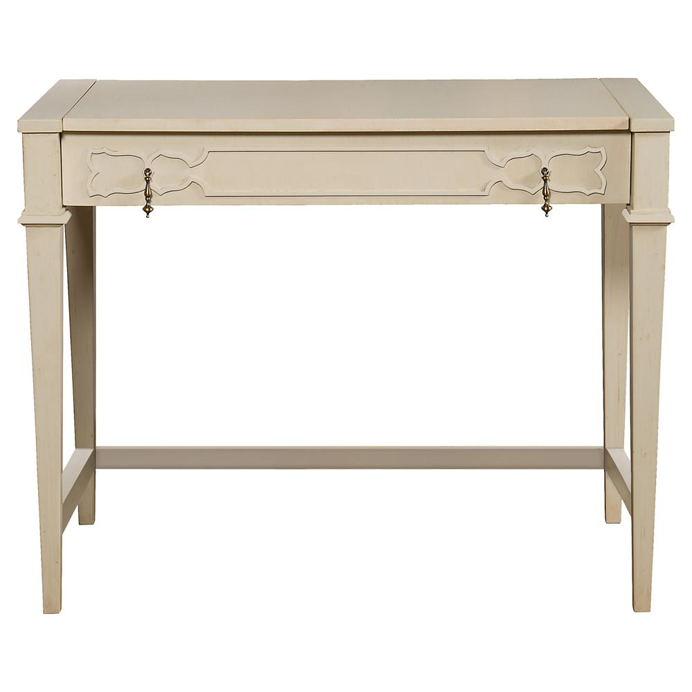 Baptiste French Country Ivory Cloud Vanity Desk Kathy Kuo Home - French country desk