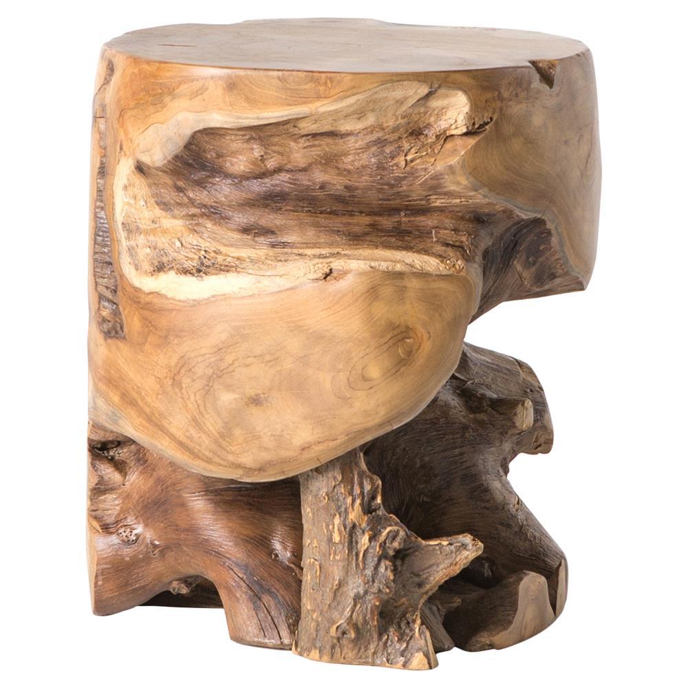 Teak Root End Table: Global Bazaar Teak Root Outdoor End Table