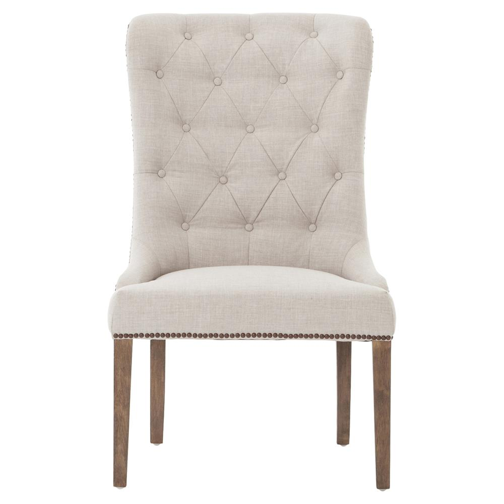 Grey On Tufted Side Chair Kathy Kuo Home View Full Size