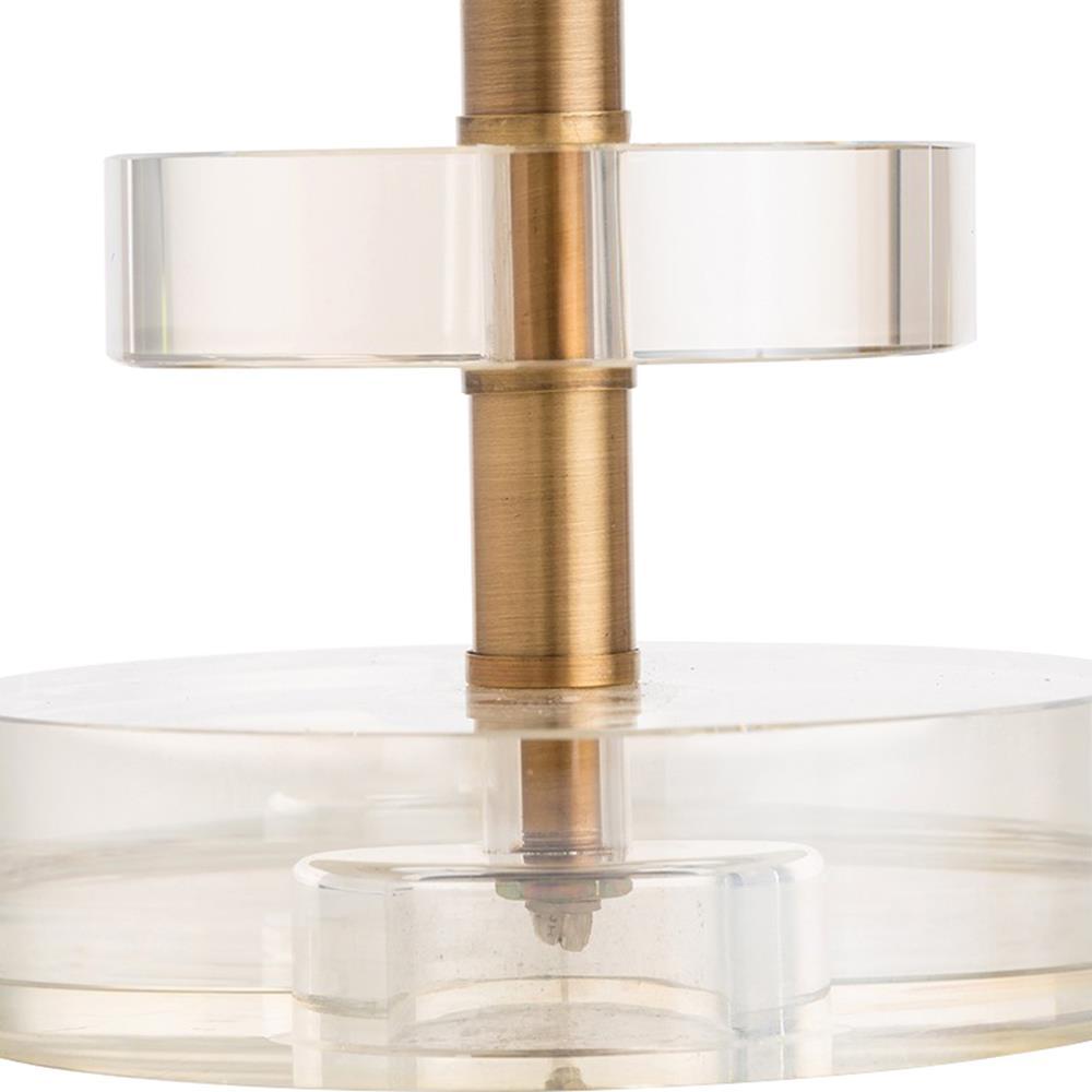 Arteriors Foley Modern Crystal Disk Table Lamp
