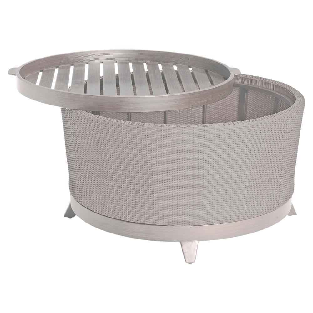 Grey Wicker Outdoor Coffee Table: Summer Classics Halo Tray Grey Oyster Wicker Outdoor