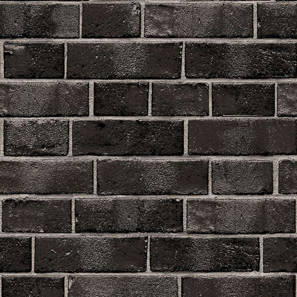 black and grey textured brick industrial loft removable