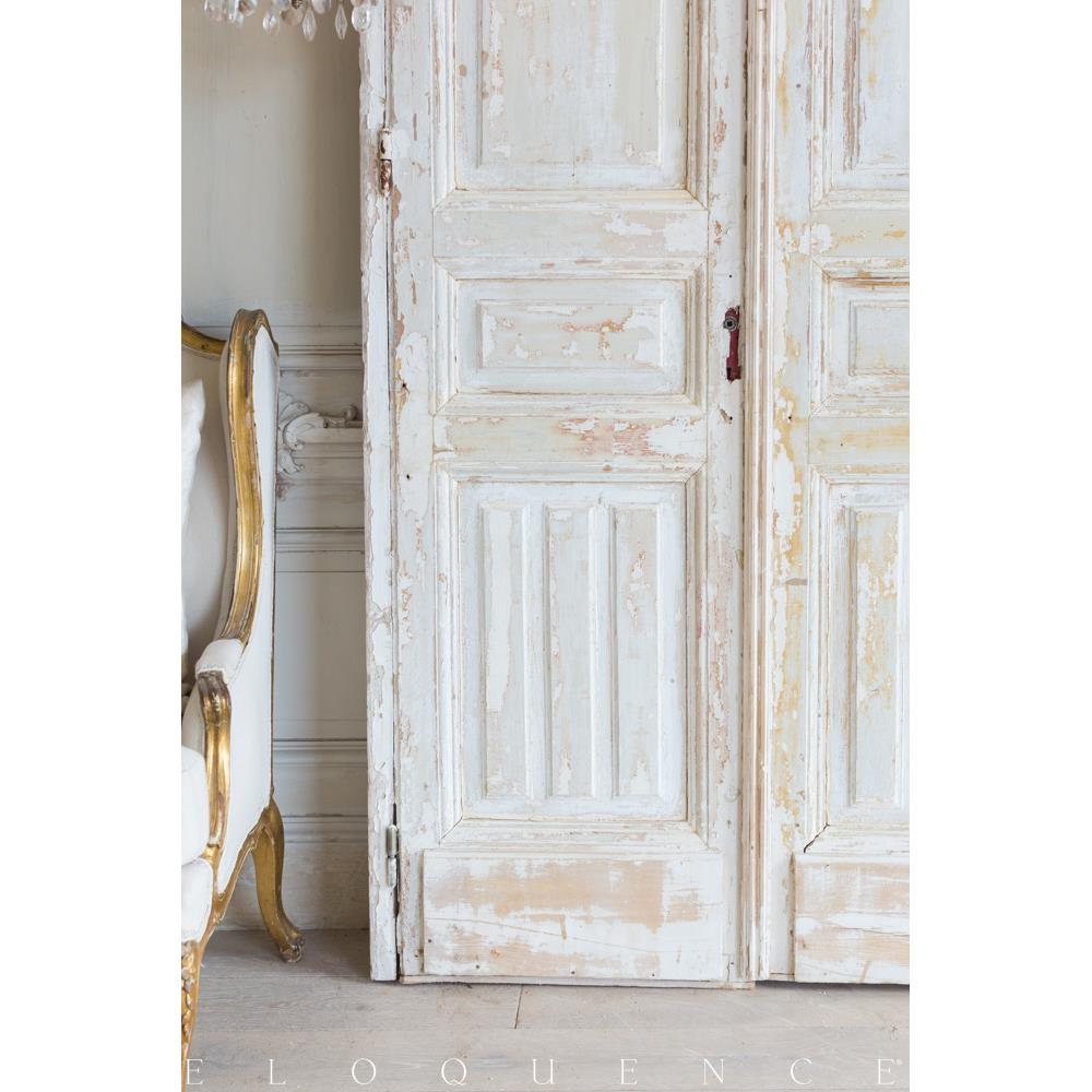 French country style vintage doors 1940 kathy kuo home for French style storm doors